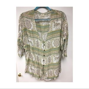 O'Neill Button Up Pull Over Size M/L